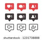 set of like notification ... | Shutterstock .eps vector #1231738888