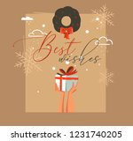 hand drawn vector abstract... | Shutterstock .eps vector #1231740205