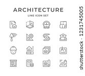 set line icons of architectural ... | Shutterstock . vector #1231745005