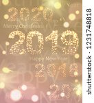 2019 happy new year banner ... | Shutterstock .eps vector #1231748818