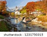 amazing autumn scenery in... | Shutterstock . vector #1231750315