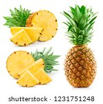 pineapple isolated on white... | Shutterstock . vector #1231751248
