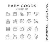 set line icons of baby goods... | Shutterstock . vector #1231756702
