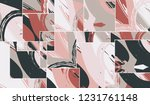 abstract collage asymmetric... | Shutterstock .eps vector #1231761148