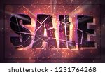 banner for sale. black... | Shutterstock .eps vector #1231764268