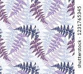 fern frond herbs  tropical... | Shutterstock .eps vector #1231765345
