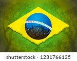 brazilian flag vector...   Shutterstock .eps vector #1231766125