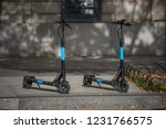 two electric city scooters. ...   Shutterstock . vector #1231766575