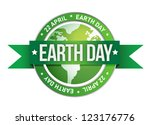earth day written inside the... | Shutterstock . vector #123176776