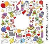 merry christmas pattern for... | Shutterstock .eps vector #1231782595