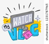vlog video blog social media... | Shutterstock .eps vector #1231787965