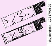 chocolate bars vector... | Shutterstock .eps vector #1231790602