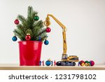 miniature workers decorating... | Shutterstock . vector #1231798102