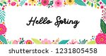 cute spring flowers horizontal... | Shutterstock . vector #1231805458