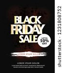 black friday sale   on the... | Shutterstock .eps vector #1231808752