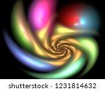 digital abstract fractal... | Shutterstock . vector #1231814632