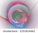 digital abstract fractal... | Shutterstock . vector #1231814662