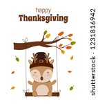 happy thanksgiving  greeting... | Shutterstock .eps vector #1231816942