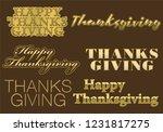 thanksgiving typography designs ... | Shutterstock .eps vector #1231817275