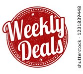 weekly deals sign or stamp on... | Shutterstock .eps vector #1231839448