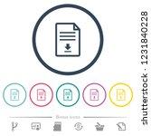 download document flat color...   Shutterstock .eps vector #1231840228