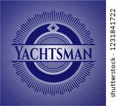 yachtsman with jean texture | Shutterstock .eps vector #1231841722