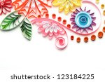 paper quilling colorful paper... | Shutterstock . vector #123184225