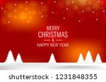 christmas background with shiny ... | Shutterstock .eps vector #1231848355