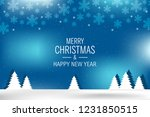 christmas background with shiny ... | Shutterstock .eps vector #1231850515