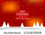 christmas background with shiny ... | Shutterstock .eps vector #1231855858