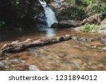 a beautiful waterfall . | Shutterstock . vector #1231894012