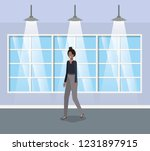 corridor with black...   Shutterstock .eps vector #1231897915