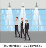 businessmen in corridor office   Shutterstock .eps vector #1231898662