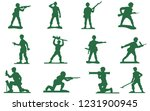toy plastic green army men...