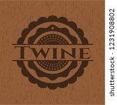 twine vintage wooden emblem   Shutterstock .eps vector #1231908802