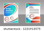 modern vector abstract brochure ...   Shutterstock .eps vector #1231913575