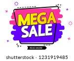 mega sale  banner design... | Shutterstock .eps vector #1231919485