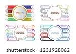 modern infographic template... | Shutterstock .eps vector #1231928062