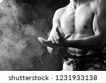 midsection portrait of muscular ... | Shutterstock . vector #1231933138