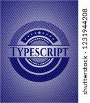 typescript emblem with denim... | Shutterstock .eps vector #1231944208