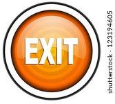 exit orange glossy icon... | Shutterstock . vector #123194605