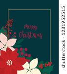 merry christmas greeting card.... | Shutterstock .eps vector #1231952515