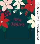 merry christmas greeting card.... | Shutterstock .eps vector #1231952518