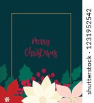 merry christmas greeting card.... | Shutterstock .eps vector #1231952542