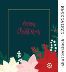 merry christmas greeting card.... | Shutterstock .eps vector #1231952548