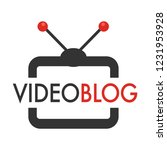 blog  broadcasting multimedia... | Shutterstock .eps vector #1231953928