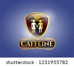 gold shiny badge with lesbian... | Shutterstock .eps vector #1231955782