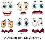 set of facial expression... | Shutterstock .eps vector #1231957048