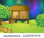 a hut in nature illustration | Shutterstock .eps vector #1231957375