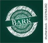 bark written with chalkboard... | Shutterstock .eps vector #1231966282